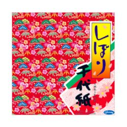 ORIGAMI Chiyogami 36 feuilles 15 x15cm, 4 motifs traditionnels