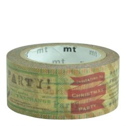 Masking tape / invitations Noël vintage