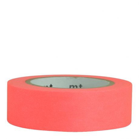 Masking tape / Shocking red (rouge orangé fluo)