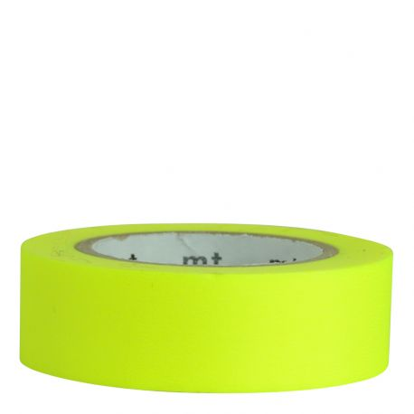 Masking tape Uni / shocking yellow (jaune fluo)