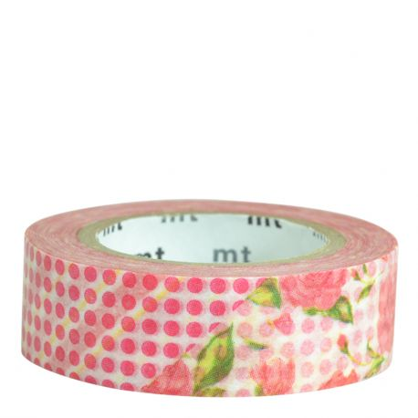 Masking tape / Rose rouge (flower red)