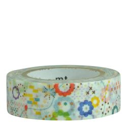 Masking tape - Fleurs multicolores (colorful POP)