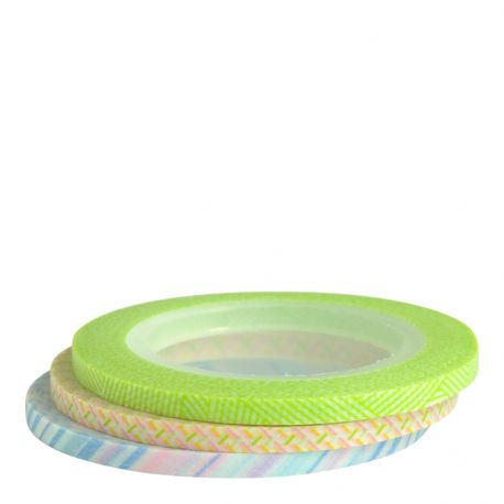 Masking tape / 3 rouleaux ultra-fins PASTEL 3mm