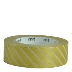 Masking tape Rayé Or