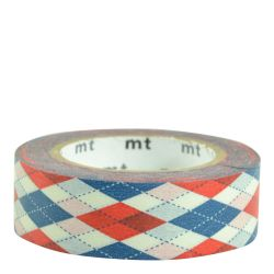 Masking tape / losange rouge (argyle red)