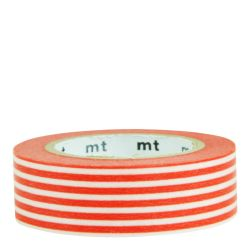Masking tape / lignes orange /border bright orange
