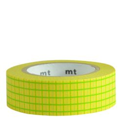 Masking Tape - Quadrillé moutarde