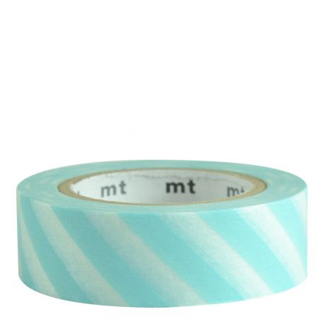 Masking Tape - Rayures mint blue