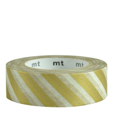 Masking Tape - Grandes rayures or