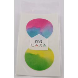 MT CASA Sticker rond - aquarelle (watercolor) - 10 pcs