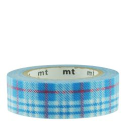 Masking tape - tartan écossais bleu / check light blue