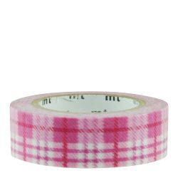 Masking tape - tartan écossais rose / check light pink