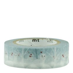 Masking tape Hermine d'hiver / ermine in snow