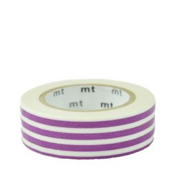 Masking tape / lignes violet (border grape)