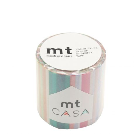 MT CASA MOTIF 5cm multi lignes vives - multi border pastel