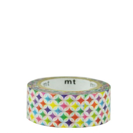 Masking Tape -motif cercles multicolores / sparkling circle
