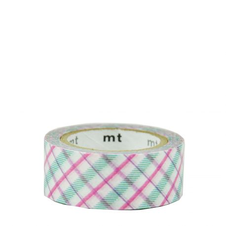 Masking Tape - Motif écossais / check purple