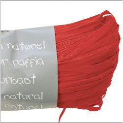 Raphia naturel Rouge