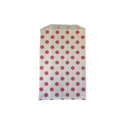 Sachets Papier Medium - Pois Rose (lot de 10)